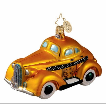 Christopher Radko Big Yellow Christmas Ornament