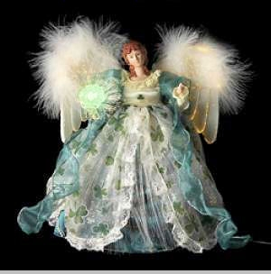 Animated Fiber Optic Irish Angel Tree Topper Sold Out
